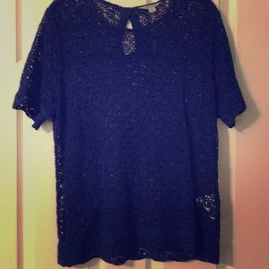 Jewel Color Blue Knitted Blouse